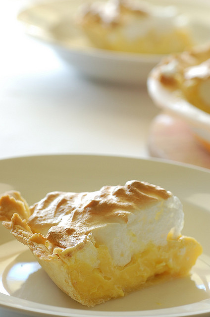 Lemon meringue pie just like grandma used to make via Flickr