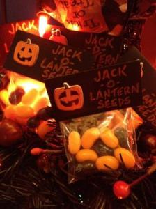 DIY Halloween gift idea - Jack-o-lantern seeds