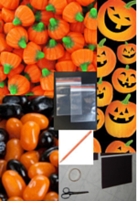 DIY Halloween gift idea - Jack-o-lantern seeds supplies